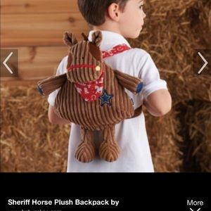 Sheriff Horse Plush Backpack by Mud Pie